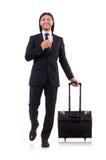 Uomo d'affari sul viaggio di affari Fotografia Stock