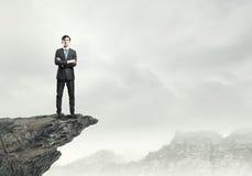 Uomo d'affari sulla cima Fotografie Stock