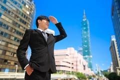 Uomo d'affari a Taipeh immagine stock libera da diritti