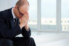 Uomo d'affari triste Immagini Stock Libere da Diritti