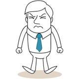 Uomo d'affari turbato con i pugni chiusi royalty illustrazione gratis