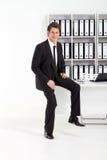 Uomo d'affari in ufficio Immagine Stock Libera da Diritti