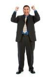 Uomo d'affari: Uomo d'affari incoraggiante Immagini Stock Libere da Diritti