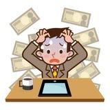 Uomo d'affari venuto a mancare all'investimento Immagini Stock Libere da Diritti