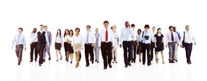 Uomo d'affari verde Team Teamwork Concept di affari Immagini Stock Libere da Diritti