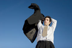 Uomo d'affari in vestito Fotografia Stock