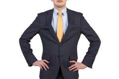 Uomo d'affari in vestito Fotografie Stock Libere da Diritti