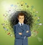 Uomo d'affari in vestito illustrazione vettoriale