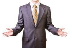 Uomo d'affari in vestito nero Immagini Stock