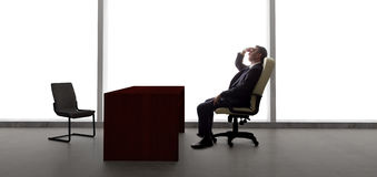 Uomo d'affari Waiting For Client o riunione immagine stock libera da diritti