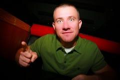 Uomo d'intimidazione Fotografie Stock