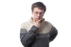 Uomo dagli occhiali immagini stock libere da diritti
