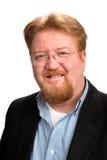 Uomo dai capelli rossi sorridente felice Fotografia Stock