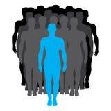 Uomo dalla folla illustrazione vettoriale
