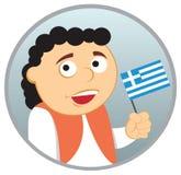 Uomo dalla Grecia Fotografia Stock