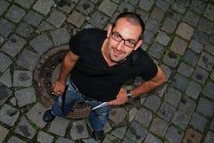 Uomo dalla parte superiore Fotografia Stock