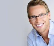 Uomo degli occhiali Fotografie Stock