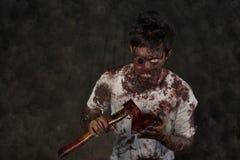 Uomo degli zombie Fotografie Stock