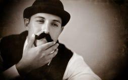 Uomo dei baffi Fotografia Stock
