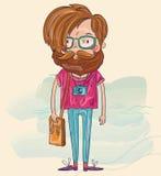 Uomo dei pantaloni a vita bassa Fotografie Stock Libere da Diritti