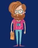 Uomo dei pantaloni a vita bassa Fotografie Stock