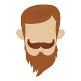 uomo dei pantaloni a vita bassa con i baffi Fotografia Stock