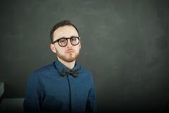 Uomo dei pantaloni a vita bassa di fotografia dello studio Immagini Stock Libere da Diritti