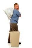 Uomo dei rifiuti Fotografie Stock