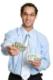 Uomo dei soldi Fotografia Stock Libera da Diritti