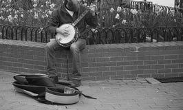 Uomo del banjo Fotografie Stock Libere da Diritti