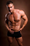 Uomo del Bodybuilder. fotografie stock