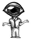 Uomo del bulbo oculare Immagine Stock