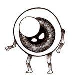 Uomo del bulbo oculare Fotografia Stock