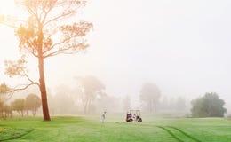 Uomo del campo da golf Fotografia Stock
