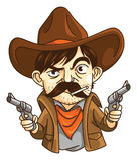 Uomo del cowboy Immagine Stock Libera da Diritti