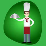 Uomo del cuoco del cuoco unico Immagini Stock