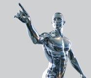 Uomo del Cyborg Fotografie Stock Libere da Diritti