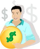 Uomo del dollaro Fotografie Stock Libere da Diritti