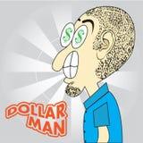 Uomo del dollaro Immagine Stock