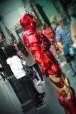 Uomo del ferro, boulevard di Hollywood, Los Angeles Fotografia Stock Libera da Diritti