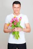 Uomo del fiore Immagini Stock