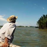 Uomo del fiume Fotografia Stock Libera da Diritti