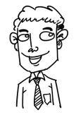 Uomo del fumetto Fotografia Stock