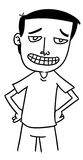 Uomo del fumetto Fotografie Stock