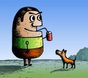 Uomo del fumetto illustrazione vettoriale