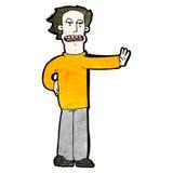 uomo del fumetto che gesturing fermata Fotografie Stock Libere da Diritti