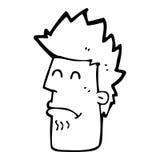 uomo del fumetto che si sente male Fotografia Stock Libera da Diritti