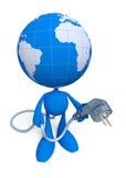 Dia al mondo… una energia elettrica Immagine Stock