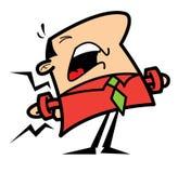 Uomo del fumetto con il mal di schiena Fotografia Stock