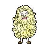 uomo del fumetto con la barba enorme illustrazione vettoriale